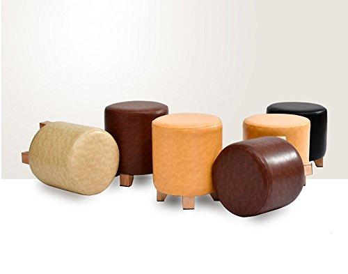 Stool sgabello in pelle di legno massiccio sgabello per divano