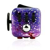 Fidget Cube zur Reduzierung von Stress/Angstgefühl, Galaxy Fidget Cube Spielzeug für Erwachsene...