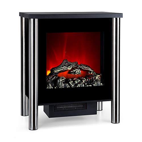 Klarstein Copenhagen • Elektrischer Kamin mit Heizung • Elektrokamin • Elektrischer Kaminofen • 950 oder 1900 Watt • Thermostat • zuschaltbare Heizfunktion • Flammeneffekte • Glasfront • schwarz