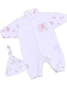 BabyPrem Baby Frühchen Kleidung Strampler Overall & Hut Set Mädchen 32 - 50cm