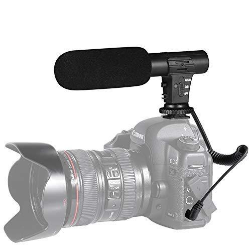 Kamera Mikrofon, Shotory Externes Video Mikrofon der Kamera für Nikon Canon DSLR-Kamera/DV-Camcorder(Außer für Canon T5i, T6)