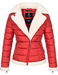 Navahoo Damen Designer Winter Jacke warme Winterjacke Steppjacke Teddyfell  B652 4aae6abf15