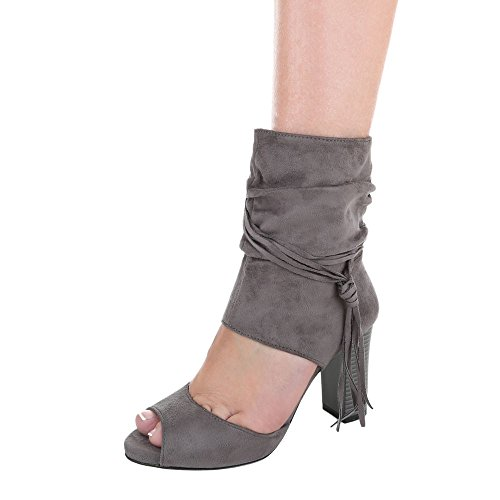 Ital-Design , Escarpins peep-toe femme Gris