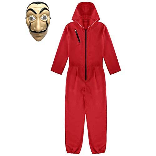 Amycute 2Pcs Disfraz de XXL, Máscara de Salvador Dalí Disfraz de Ladrón Traje Cosplay para Carnaval Navidad Halloween Festival de Musica