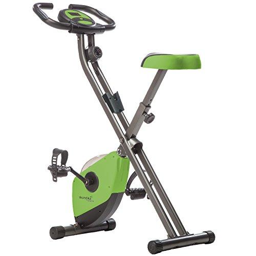 skandika Foldaway X-1000 Fitnessbike, 2,6 kg Schwungmasse, grün