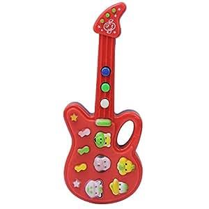 Mini Guitare Instrument à Corde Jouet Musical Cadeau pour Enfant 19*7.5*2cm
