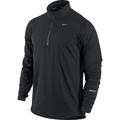 Tienda De Venta Online Vendible Nike Element 1/2 Zip Maglia nero/argento Envío Libre Excelente iF1Czy