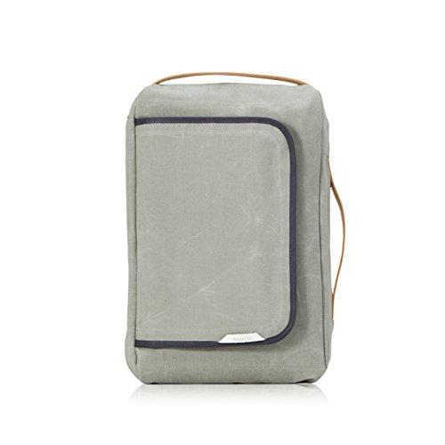 rawrow Fashion Schule Rucksack Schultasche R Tasche 100Wax Canvas, R Bag 100 Wax Canvas, olivgrün