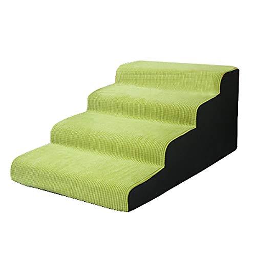 Escaleras de mascotas- Escalera Y Rampa For Mascotas Lavables En Verde, Escalones...