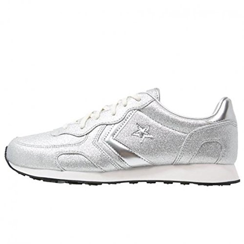 CONVERSE Auckland Racer Ox sneakers glitter TESSUTO SILVER 552686C 37