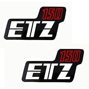 Aufkleber Klebefolie MZ - ETZ 150 - Seitendeckel Rechts und Links (4-022)