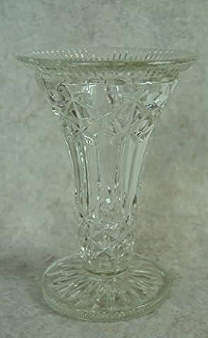 Large Vintage Pressed Glass Flower Vase