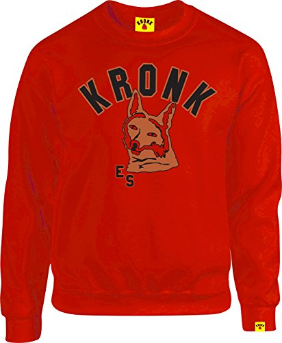 Kronk Emanuel Steward Fox Logo Vintage Stil Herren Regular Fit Sweatshirt Rot
