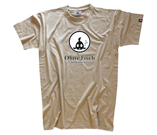 Shirtzshop Uomo senza Pesce fehlt maglietta beige