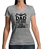 Dad The Man The Myth The Legend Damen V-Neck T-Shirt S