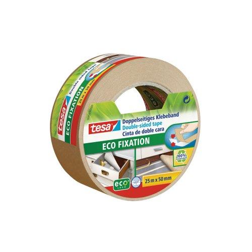 Preisvergleich Produktbild tesa® Doppelseitiges Klebeband ECO Fixation (2-er Packung je 25m x 50mm)