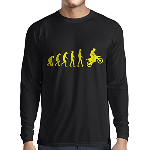 Camiseta de Manga Larga para Hombre evolución del Motocross, Camisa de la...