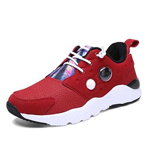 Men's Lace Up Athletic Training Shoes red