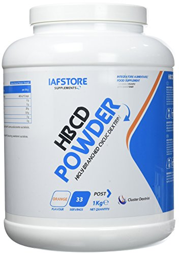 HBCD Powder integratore alimentare di carboidrati con ciclodestrine altamente ramificate (Cluster Dextrin) (Arancia) 1000 grammi