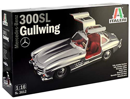 Italeri 3612S 3612S-1:16 Mercedes-Benz 300 SL Gullwing - Maqueta de construcción de maquetas, construcción de Modelos, Manualidades, aficiones, Pegamento, Kit de Montaje de plástico, sin Pintar