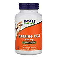 ‏‪Now Foods, Betaine HCL, 648 mg, 120 Veg Capsules‬‏