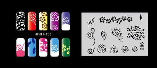 Fingernagel Schablone (airbrush nail art) Fengda JFH11-206