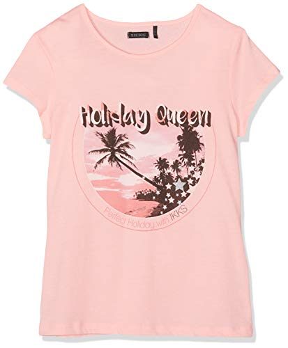 IKKS Junior T T Shirt Rose Fluo Palmiers T- 33, 14 Ans (Taille Fabricant:14A) Fill