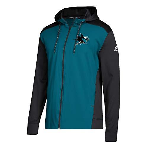 adidas NHL San Jose Sharks Full Zip Hood Small -