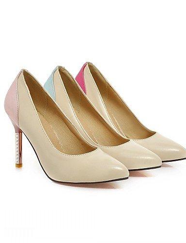 WSS 2016 Chaussures Femme-Bureau & Travail / Habillé / Décontracté-Bleu / Rose / Rouge-Talon Aiguille-Talons-Talons-Similicuir blue-us5 / eu35 / uk3 / cn34