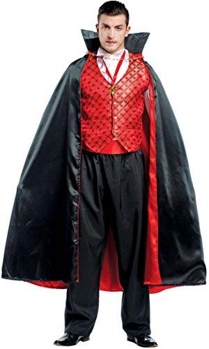 COSTUME di CARNEVALE da CONTE DRACULA vestito per Uomo adulti travestimento veneziano halloween cosplay festa party 4481 Taglia XL