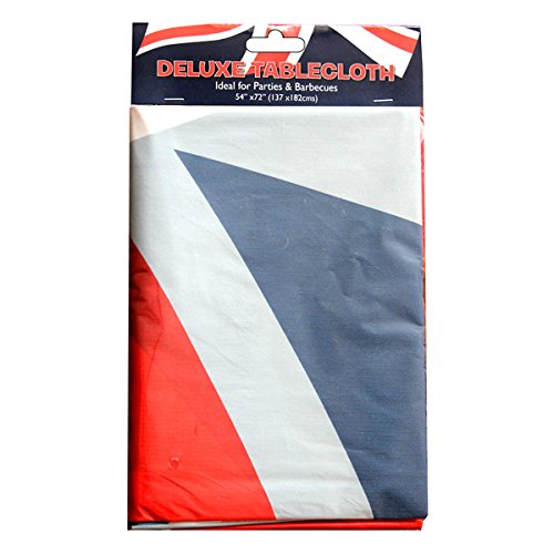 Union Jack Plasticloth Tablecloth - 137cm x 182cm - Perfect Jubilee Accessory!