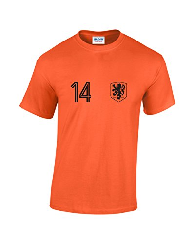Holland No 14Worldcup-T-Shirt Gr. X-Large, Orange