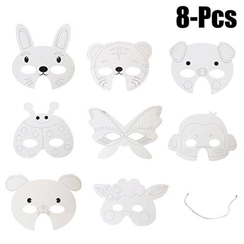 Funpa 8 STÜCKE Kinder Papier Maske Party Maske -
