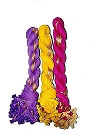 Fashion Store Women's Chiffon Dupatta Stole,chunni Pack Of 3 (Purple ,Yellow & Pink, Free Size,)