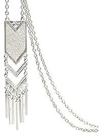 Kongnijiwa Bijoux série Western Style géométrique Tassel Pendentif en  Alliage Femmes Pull ... 61115dc4805