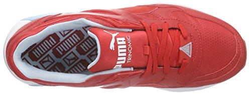Puma R698 Mesh-Neoprene Jr, Sneakers basses mixte enfant Rouge - Rot (high risk red-high risk red 04)