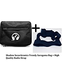Saregama Carvaan Portable Digital Music Player Bag Accessories with remote holding option with Special MUSIC TONE & HEADPHONE PRINTED Design from Shadow Securitronics Carry Shoulder Pouch for SC02, R20005, SC03, SC01, SCM01 Models - Black