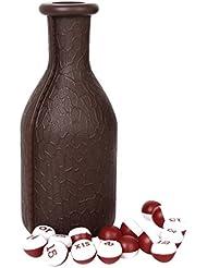 1pc Billar Dados Kelly Pool Botella Con 16 Bolas Numeradas Tally Guisantes