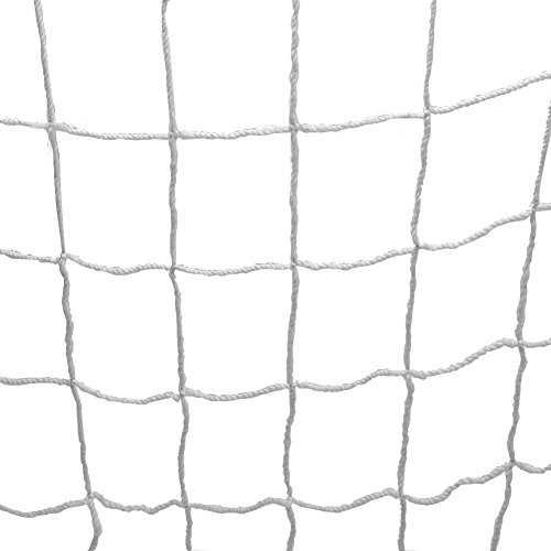 SolUptanisu Fußball Tornetz, Fußballtornetz Fußball Netz Fußballnetz in voller Größe Ersatz Fußball Torpfosten Netz für Sports Match Training(8X6FT)