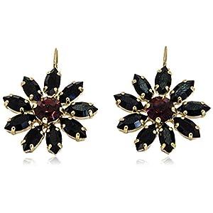 Rosaspina Firenze, Orecchini fiore in cristallo neri
