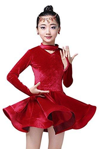 BOZEVON Kleid Kinder Tanzkleidung Kostüm Darbietungen Tanzkostüme für -