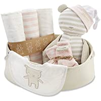 Baby Aspen Beary Special Welcome Set, Pink/White/Beige, 0-6