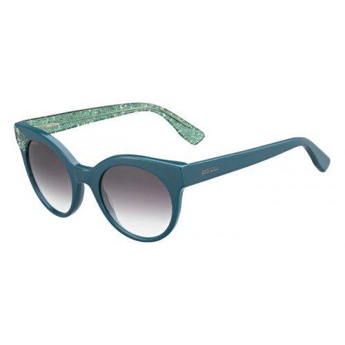 Jimmy Choo Damen Mirta/S 5M Q4S Sonnenbrille, Blau (Bluette Grngltt/Grey Ds Aqua), 49