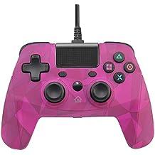 Gamepad Controller, con Doble vibracion Turbo,con Cable, para PS4 / PS3 / PC (Windows7/8/10),Azul/Rosa,Pink