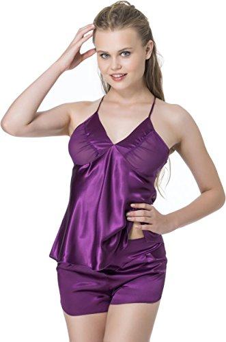 stylenmore - Ensemble de pyjama - Uni - Femme Violet - Violet