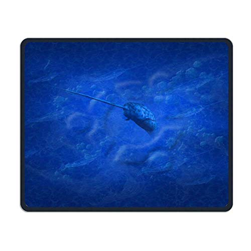 Smooth Mouse Pad Blue Narwhal Mobile Gaming Mouse Pad Work Mouse Pad Office Pad