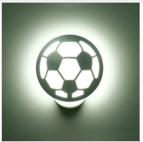 Lampade applique lampada luci da muro lampade da parete applique da parete lampada da parete bianca da calcio led art deco verniciato semplice applique da parete per camera da letto corridoio bag