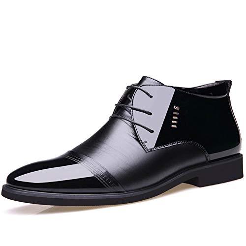 Schaffell Tall Boots (Qianliuk Männer Stiefel Mikrofaser Männer Winterschuhe Wolle Innen Leder Warme Schneeschuhe Man Ankle Boots)