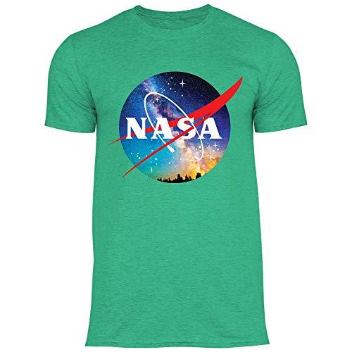 Royal Shirt rs155 Herren T-Shirt NASA Galaxie | Sterne Weltall Weltraum Astronomie Galaxie Meteor, Größe:XXL, Farbe:Heather Irish Green