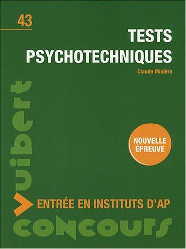 Tests psychotechniques : Entrée en instituts d'AP